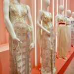'Lights, Camera Action! room at the Louis Vuitton X Exhibit. Highlighting 31 celebrity dresses made by designer Nicolas Ghesquière