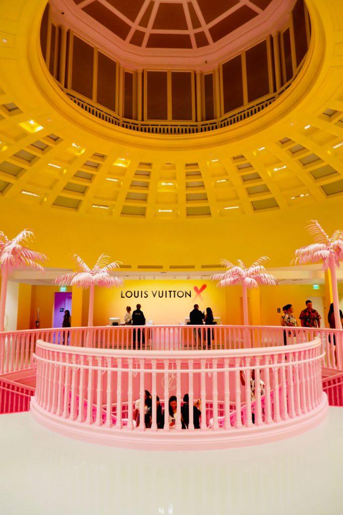Stunning Top Level Floor of the Louis Vuitton X Pop-up Shop