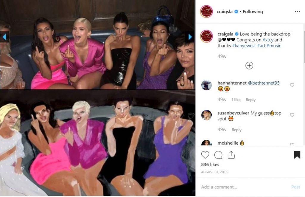 The Kardashians/Jenners celebrating Kylie's 21st Birthday at Craigs LA