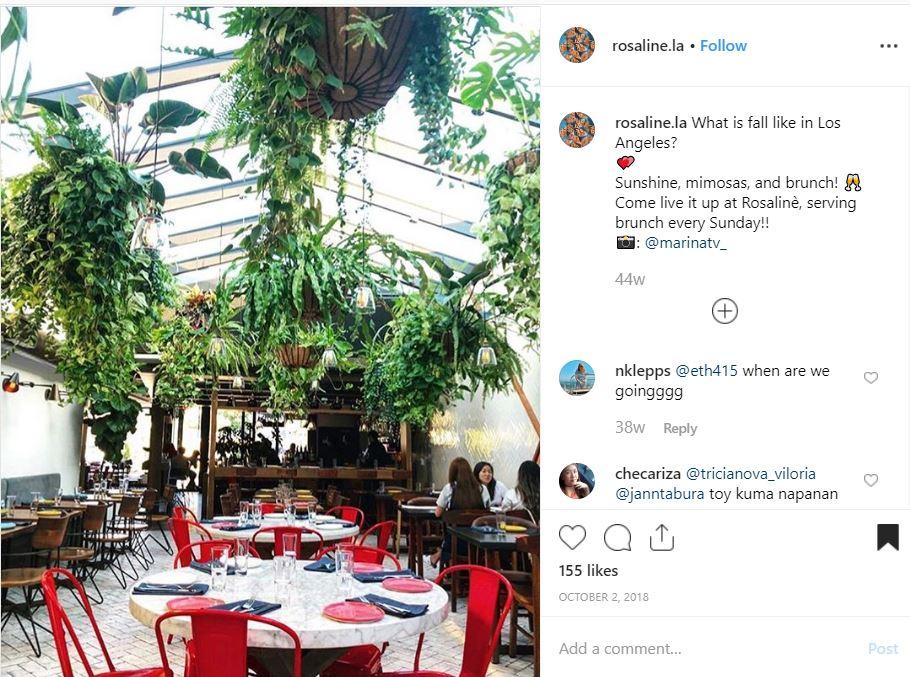 Rosaline Peruvian Restaurant in West Hollywood