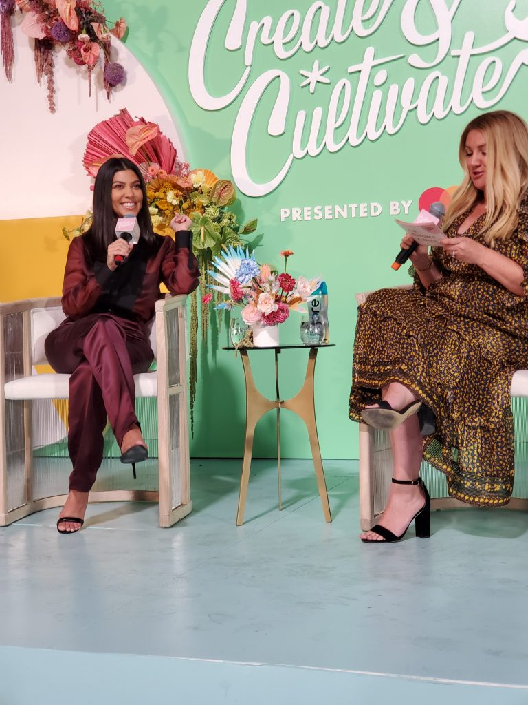 Kourtney Kardashian and Allison Statter at Create & Cultivate SF